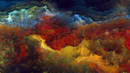 Photo pour Forces dans la nature série 4K. Conception abstraite faite de couleurs surréalistes et peinture numérique sur le sujet de la fiction, des rêves et de l'imagination - image libre de droit