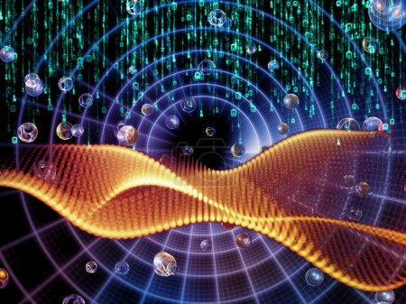 Photo pour Math Universe series. Composition graphique des chiffres et des éléments de l'espace pour les mathématiques, les sciences, l'éducation et la technologie moderne - image libre de droit