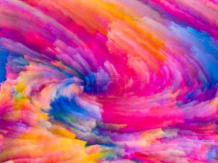 Photo for Color Texture series. Background design of digital paint and fractal clouds on the subject of dynamic backgrounds and dimensional backdrops - Royalty Free Image