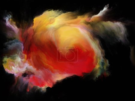 Color Flow series. Abstract design made of streams of digital paint on the subject of music, creativity, imagination, art and design