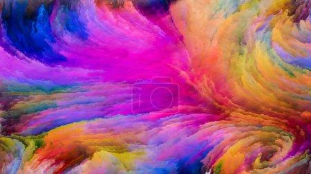 Photo pour Série Color In Motion. Composition du motif de peinture fluide approprié comme toile de fond pour les projets sur la conception, la créativité et l'imagination à utiliser comme papier peint pour les écrans et les appareils - image libre de droit
