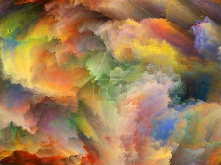 Photo pour Série de couleurs abstraites. Interaction de la peinture colorée en mouvement sur toile au sujet de l'art, de la créativité et de l'imagination - image libre de droit