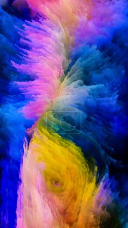 Photo for Color In Motion series. Composition of  Flowing Paint pattern for projects on design, creativity and imagination to use as wallpaper for screens and devices - Royalty Free Image