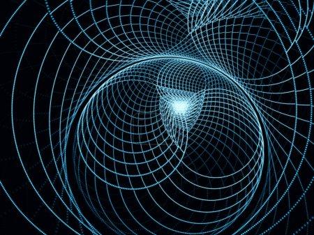 Photo pour Série Dots and Lines. Contexte des motifs fractaux circulaires adaptés aux projets sur l'art, le design et la technologie . - image libre de droit