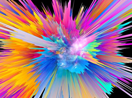 Photo for Explosion of saturated virtual paint texture for dynamic backgrounds - Royalty Free Image