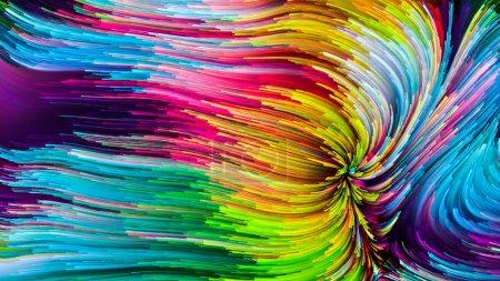 Foto de Serie de color en movimiento. Diseño de patrón de pintura que fluye para servir como telón de fondo para proyectos relacionados con el diseño, la creatividad y la imaginación para utilizar como fondo de pantalla para pantallas y dispositivos - Imagen libre de derechos
