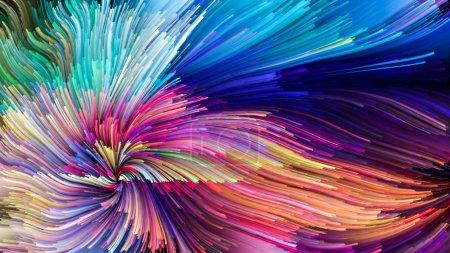 Photo pour Série Color In Motion. Conception abstraite faite de motif de peinture liquide sur le sujet de la conception, la créativité et l'imagination à utiliser comme papier peint pour les écrans et les appareils - image libre de droit