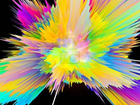 Foto de Explosión de textura saturada de pintura virtual para entornos dinámicos - Imagen libre de derechos