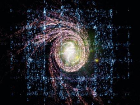 Photo pour Math Universe series. Disposition des chiffres et des éléments de l'espace au sujet des mathématiques, des sciences, de l'éducation et de la technologie moderne - image libre de droit