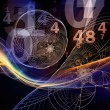 Math of Reality series. Background design of numbe...