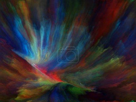 Foto de Color de flujo serie. Composición de los flujos de pintura digital sobre el tema de música, creatividad, imaginación, arte y diseño - Imagen libre de derechos