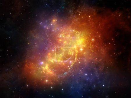 Photo pour Eléments de la série Cosmos. Composition de l'espace et des étoiles appropriée comme toile de fond pour les projets sur les mathématiques, les sciences, l'éducation et la technologie moderne - image libre de droit