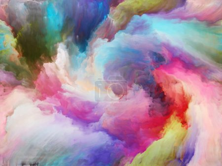 Foto de Vortex Twist and Swirl series. Fondo de color y movimiento sobre lienzo sobre el tema de arte, creatividad e imaginación - Imagen libre de derechos