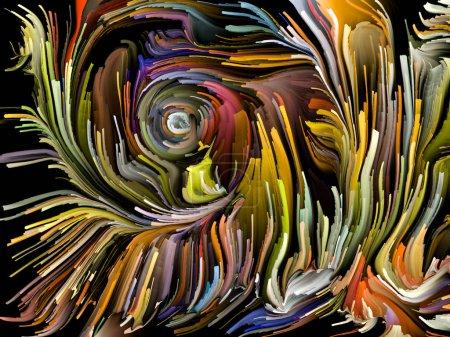Photo pour Série Liquid Color. Fond de séries de peintures multicolores sur le thème de la créativité, de l'art et du design - image libre de droit