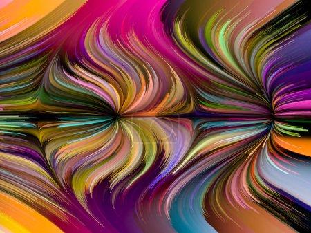 Photo pour Série Liquid Color. Composition de séries de peintures multicolores sur le thème de la créativité, de l'art et du design - image libre de droit