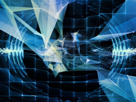 Photo pour Série numérique de rêves. Arrangement du fond de la technologie avec des composants de visualisation virtuelle sur le thème de la science, l'éducation, les ordinateurs et la technologie moderne - image libre de droit
