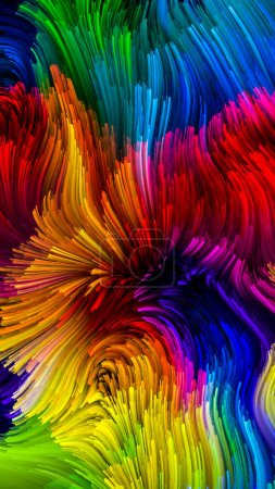 Photo for Color In Motion series. Design composed of Flowing Paint pattern as a metaphor on the subject of design, creativity and imagination to use as wallpaper for screens and devices - Royalty Free Image