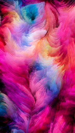 Photo for Color In Motion series. Artistic abstraction composed of Flowing Paint pattern on the subject of design, creativity and imagination to use as wallpaper for screens and devices - Royalty Free Image