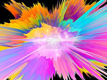 Photo pour Explosion de peinture virtuelle saturés de texture pour les arrière-plans dynamiques - image libre de droit
