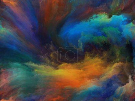 Foto de Resumen serie a Color. Composición agradable a la vista de pintura colorida en movimiento sobre lienzo para obras de arte, creatividad e imaginación - Imagen libre de derechos