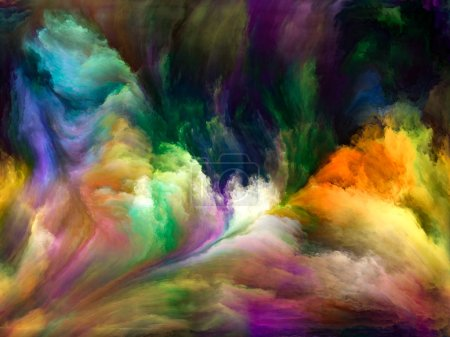 Photo for Abstract Color series. Abstract composition of colorful paint in motion on canvas suitable in projects related to art, creativity and imagination - Royalty Free Image