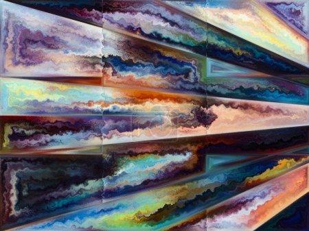 Photo pour Série Texture Intérieure. abstraction artistique composée de la conception de la division de l'espace avec des textures fluides sur le sujet de l'art, Nature et créativité - image libre de droit