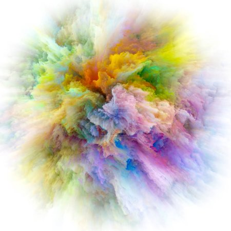 Photo pour Série Color Emotion. Design fait d'explosion de couleur pour servir de toile de fond à des projets liés à l'imagination, l'art de la créativité et le design - image libre de droit