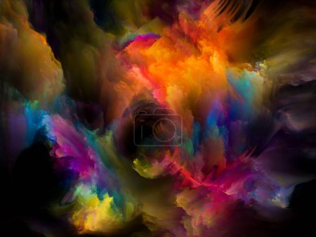 Photo for Abstract color paint background on design, creativity, inspiration and art. 3D Color series. - Royalty Free Image