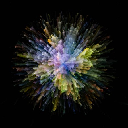Photo pour Série Color Emotion. Fond de couleur éclatement explosion éclaboussure pour compléter votre conception sur le sujet de l'imagination, l'art de la créativité et le design - image libre de droit