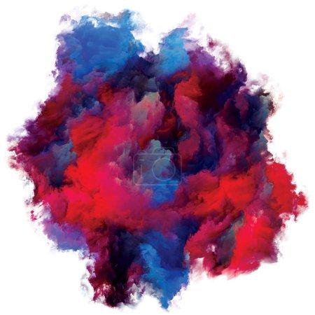 Photo pour Abstract Paint Fragment series. Section de toile colorée isolée sur fond blanc pour une utilisation dans l'art et le design. - image libre de droit
