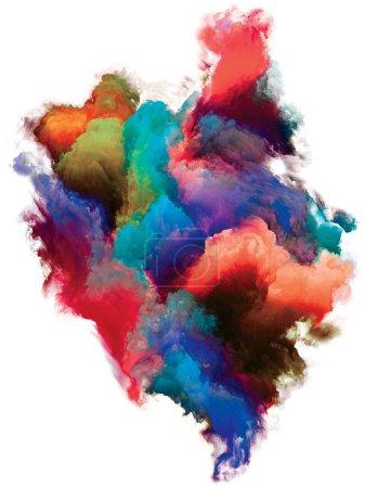 Photo pour Série Fragment de couleur abstraite. Particule de couleur sur fond blanc pour une utilisation dans l'art et le design . - image libre de droit