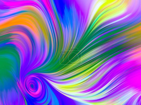 Photo for Perfume of Color series. Vivid colorful abstract background design. - Royalty Free Image