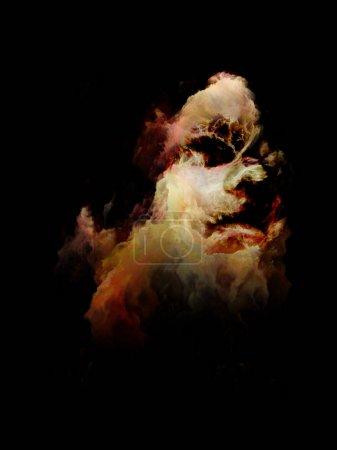 Photo pour Ma série Demon Angel Woman. Portrait d'une jeune femme aux éléments surréalistes sur le thème de la nature féminine, du monde intérieur et du drame humain . - image libre de droit