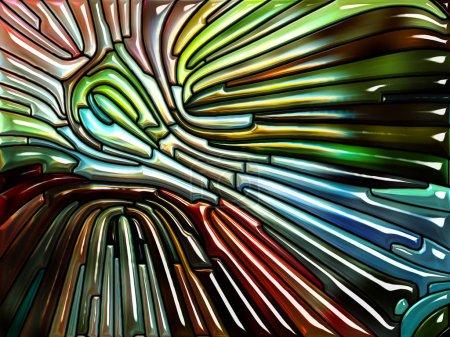 Photo pour Série Liquid Pattern. Toile de fond de vitrail rappelant l'Art Nouveau pour des illustrations sur la nature, la beauté et la spiritualité - image libre de droit