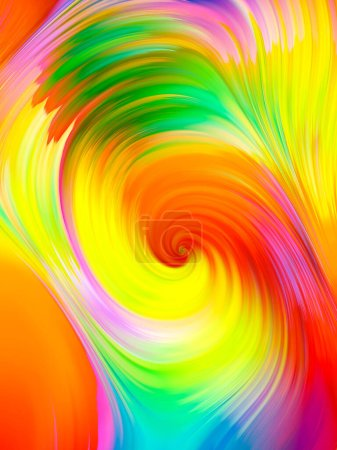 Photo for Color fibers iridescent. Overflow Colors Series. - Royalty Free Image