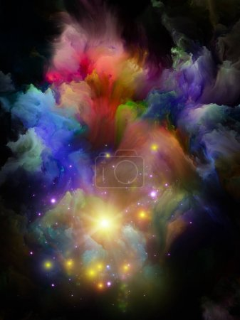 Photo for Paint Motion. Color Dream series. Arrangement of gradients and spectral hues on theme of imagination, creativity and art painting - Royalty Free Image