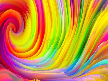 Photo pour Série Color Storm. rendu 3D de crêtes colorées de peinture virtuelle pour servir de fond d'écran ou de fond d'écran sur le sujet de l'art et du design - image libre de droit