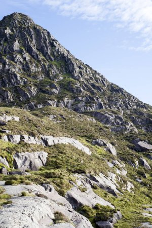 mountain peak and cliffs at