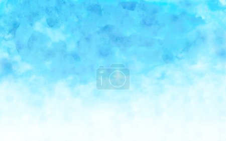 Photo for Watercolor illustration art abstract blue color texture background, clouds and sky pattern. Watercolor stain with hand paint, cloudy pattern on watercolor paper for wallpaper banner and any desig - Royalty Free Image