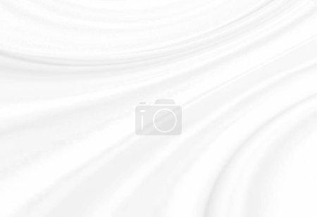 Fondo abstracto blanco de textura de tela blanca con elegante patrón curvo de onda suave en la superficie de la hoja de material textil de tela de satén de seda para la decoración del fondo de pantalla y cualquier deseo