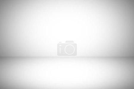 Photo pour Abstrait gradient de studio gris mur et fond de plancher dans une pièce vide avec une lumière vive pour la conception créative graphique de bannière de modèle moderne, fond lisse texture papier peint et studio spac - image libre de droit