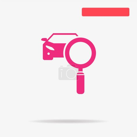 Car diagnostics icon. Vector concept illustration for design.
