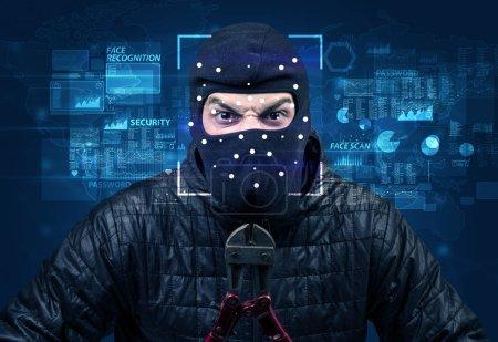 Photo pour Concept de système de reconnaissance faciale numérique - image libre de droit