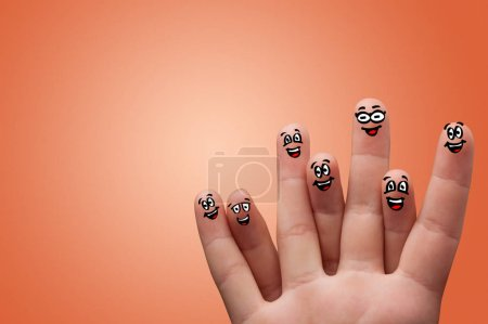 Photo for Smart looking fingers smiling and hugging - Royalty Free Image