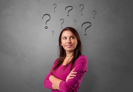 Person with question concept