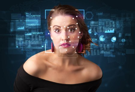 Photo for Face Recognition System concept - Royalty Free Image