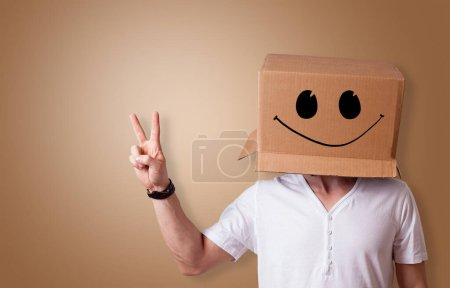 Photo for Man with cardboard box head - Royalty Free Image