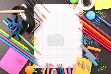 school of work supply. back to school concept