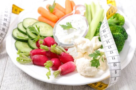 Photo for Raw vegetable and dip - Royalty Free Image