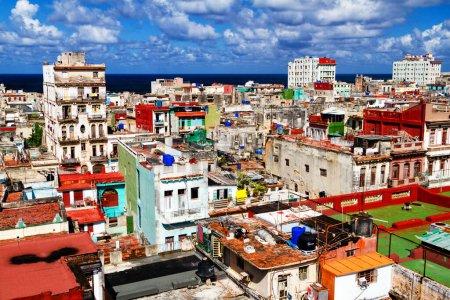 Photo pour Toit vue sur la Havane, Cuba - image libre de droit